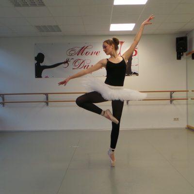 Spitzenschuhe-Ballett