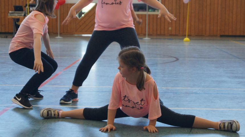 Auftritt beim Kindertanztreffpunkt 2017 in der Mainfeldhalle Michelau
